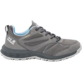 Jack Wolfskin Woodland Texapore Low Shoes Women grey/light blue
